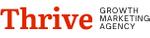 Thrive logo red black